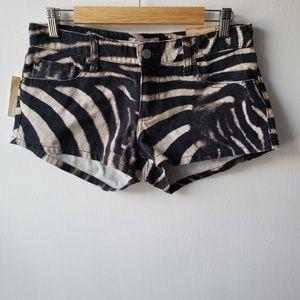 Ralph Lauren Denim Supply Animal Print Jean Shorts